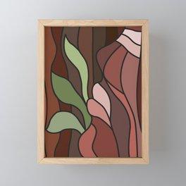 Tropical Earth Clay Framed Mini Art Print