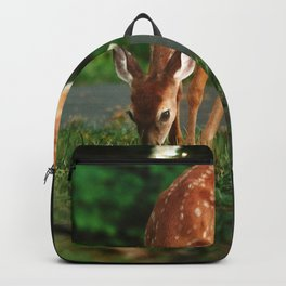 Fawn in the woods Backpack