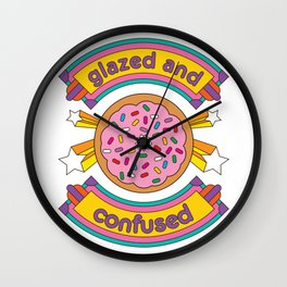 Glazed And Confused Donut Wall Clock