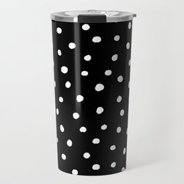 Black And White Polka Dot Travel Mug