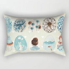 Easter eggs blue colletion Rectangular Pillow