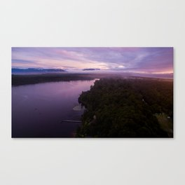 mahinapua golden hours purple Canvas Print