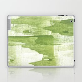Green stained watercolor design Laptop & iPad Skin