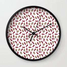 Tumbang Preso (Hit the Can) Red Wall Clock