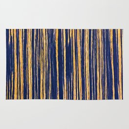 Vertical Scratches on Royal Purple Metal Texture Rug