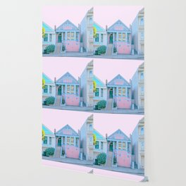 San Francisco Painted Lady Victorian House Wallpaper