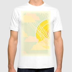 summer is here MEDIUM White Mens Fitted Tee