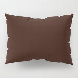 Root beer - solid color Pillow Sham