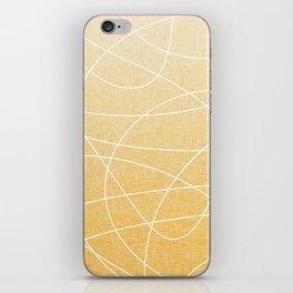 Scribble Linen - Sunflower Yellow iPhone Skin