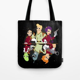 Nimbus Crew: Leela, Fry,Bender, Amy,Kif and Zapp Tote Bag