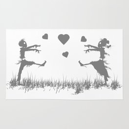 Zombies in Love Gray Rug