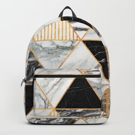 Marble Triangles 2 - Black and White Backpack