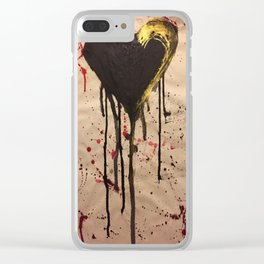 Tainted Heart Clear iPhone Case