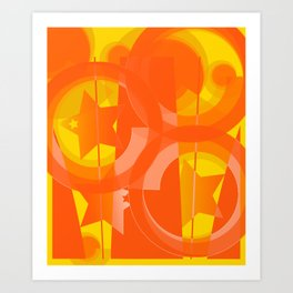 hoe is afraid of orange and yellow Art Print