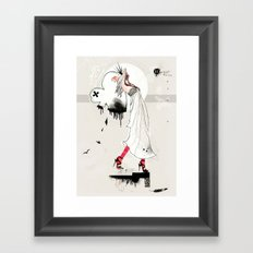 Your love is too heavy Framed Art Print