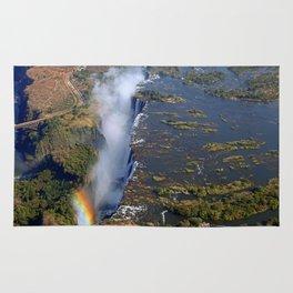 Flight over the Victoria Falls, Zambia Rug