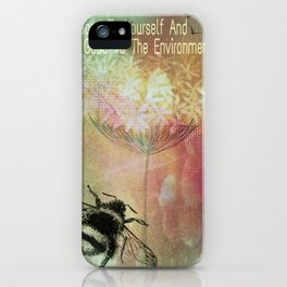 BEE Good To The Environment iPhone Case