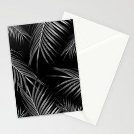 Silver Gray Black Palm Leaves Dream #1 #tropical #decor #art #society6 Stationery Cards