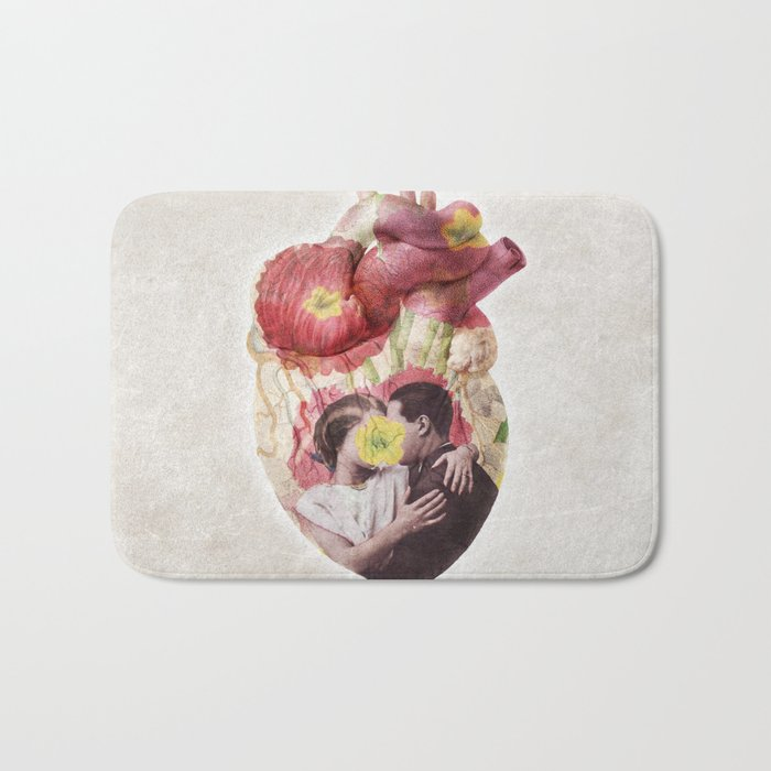 You Are in My Heart - floral version Bath Mat