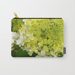 Elegant Chartreuse Green Limelight Hydrangea Macro Carry-All Pouch