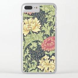 William Morris Chrysanthemum Clear iPhone Case