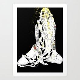 GIRL RULES Art Print