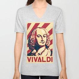 Antonio Vivaldi Retro Propaganda Unisex V-Neck