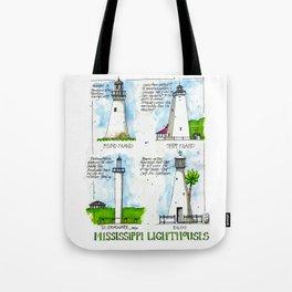 Mississippi Lighthouses Tote Bag