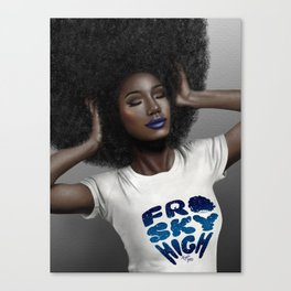 Fro Sky High Canvas Print