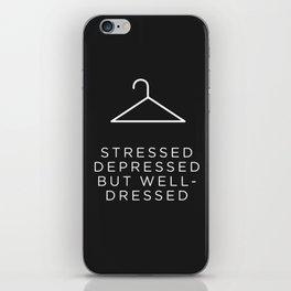Well Dressed (Black) iPhone Skin