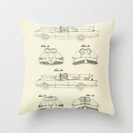 Batmobile- 1966 Throw Pillow