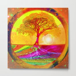 Tree of Life Sunrise Metal Print