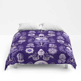 Ernst Haeckel - Purple Jellyfish Pattern Comforters