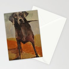 Funny Black Lab Stationery Cards