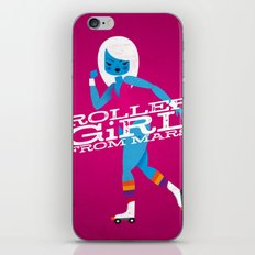 Roller Girl From Mars iPhone & iPod Skin