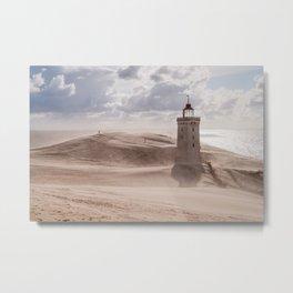 Sandstorm at the lighthouse Metal Print