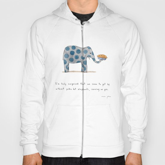 polka dot elephants serving us pie Hoody