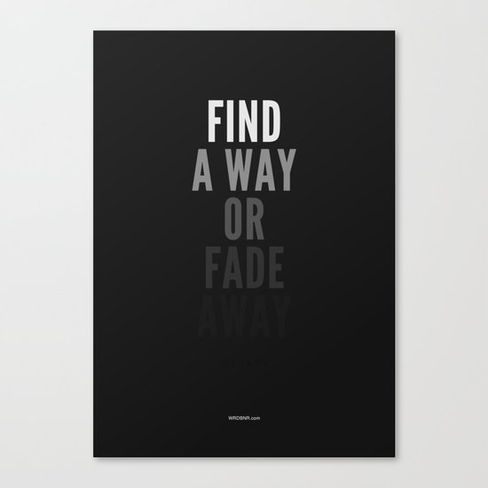 Fade Away Canvas Print