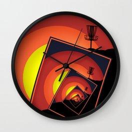 Disc Golf Spinning Basket 4 Wall Clock
