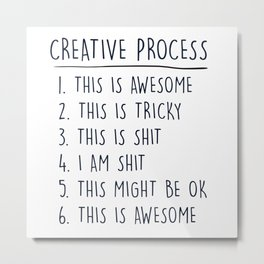 Creative Process Metal Print