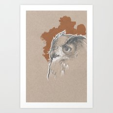 Brown Owl Art Print