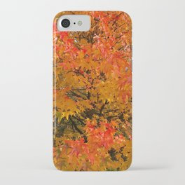 Maple Flames iPhone Case
