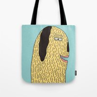 the dude Tote Bags featuring Dude by MALKERM