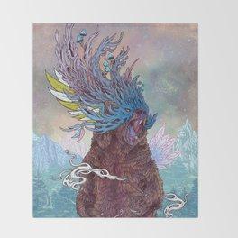 Journeying Spirit (Bear) Throw Blanket