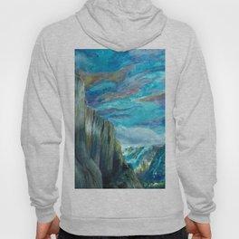 Tunnel Overlook Yosemite Watercolor Painting Hoody