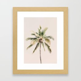 Tropical Palm Tree Framed Art Print