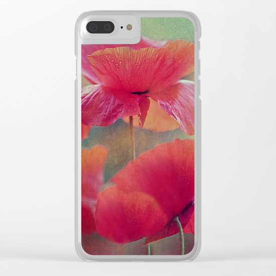 Poppies(vintage)2. Clear iPhone Case