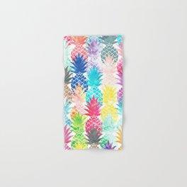 Hawaiian Pineapple Pattern Tropical Watercolor Hand & Bath Towel