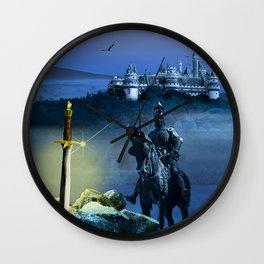 Camelot And The Sword Excalibur Wall Clock