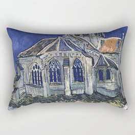 Church At Auvers Sur Oise by Van Gogh Rectangular Pillow